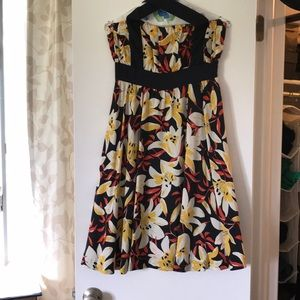 Silk floral print halter dress
